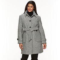 Plus Size Gallery Tweed Wool Blend Jacket