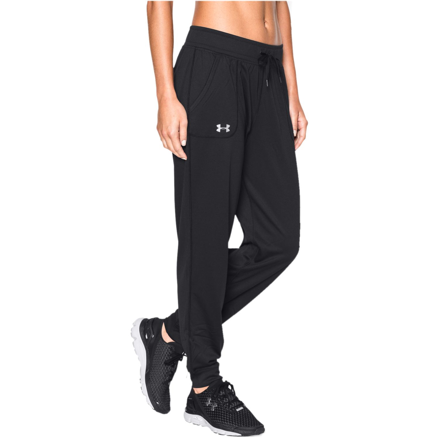 Women\u0027s Under Armour Tech Pants. Black. sale