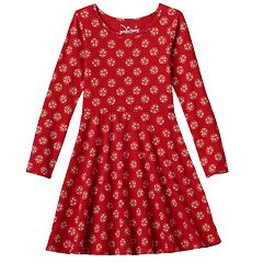 Girls 4-10 Jumping Beans® Printed Skater Dress