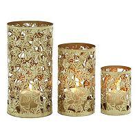Ginkgo Leaf Metal Candle Holder 3-piece Set