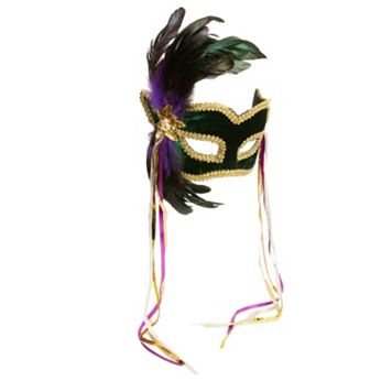 Adult Mardi Gras Costume Half Mask