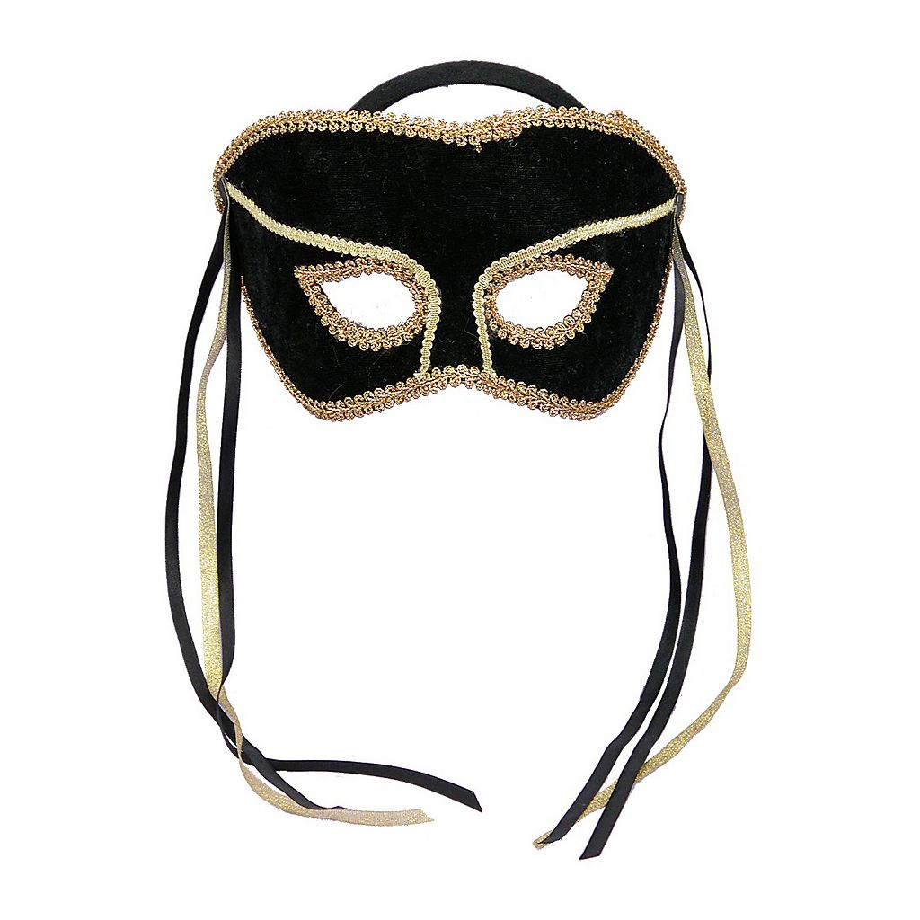 Adult Masquerade Costume Half Mask
