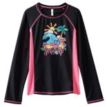 "Girls 7-16 SO® ""Surf's Up"" Long Sleeve Rashguard"
