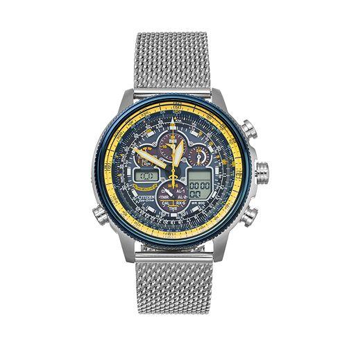 ca2be9d9db8cd Citizen Eco-Drive Men s Blue Angels Navihawk A-T Stainless Steel  Analog-Digital Watch - JY8031-56L