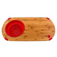 Fiesta 12 in Bamboo Chopping Board with Colander