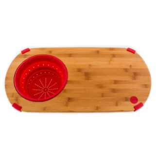 Fiesta 12-in. Bamboo Chopping Board with Colander