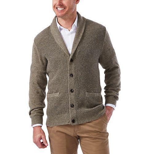 Men's Haggar Classic Fit Textured Shawl-Collar Cardigan