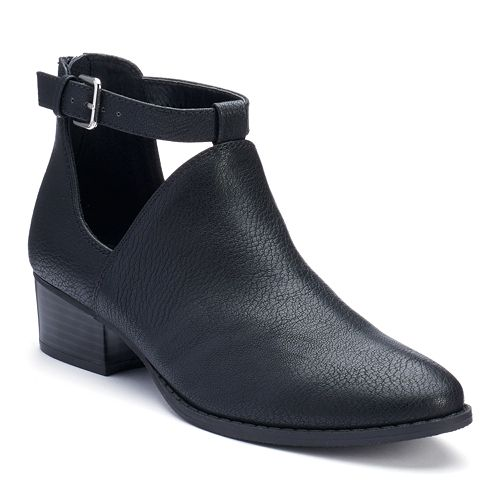 LC Lauren Conrad Women's Exposed Ankle Boots