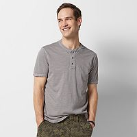 Men's SONOMA Goods for Life™ Sun-Washed Short Sleeve Henley