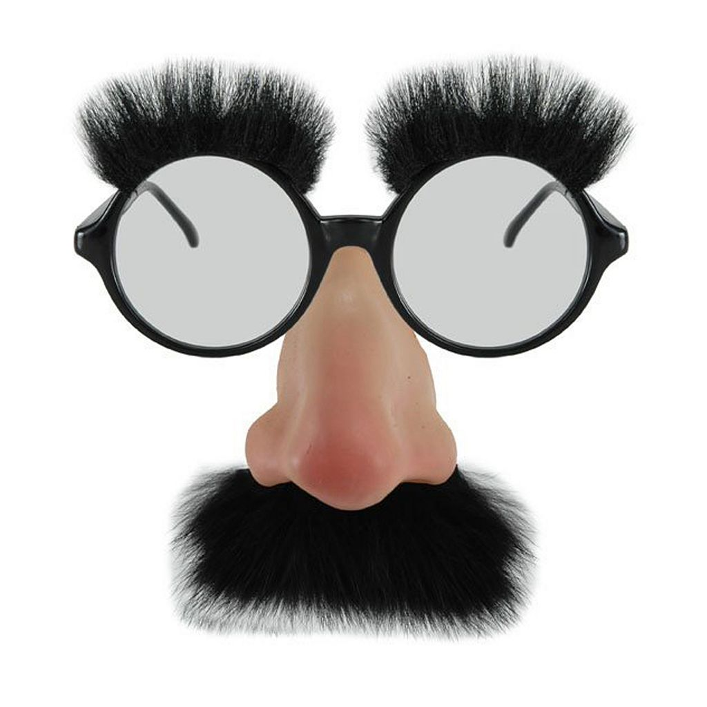Adult Nose & Mustache Costume Glasses