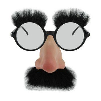 Adult Nose & Mustache Costume Glasses