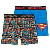 Boys Justice League 2-Pack Boxer Briefs
