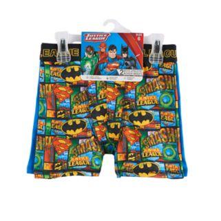 Boys Justice League 2-Pack Boxer Briefs