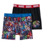 Boys Marvel Comics Captain America 2-Pack Boxer Briefs