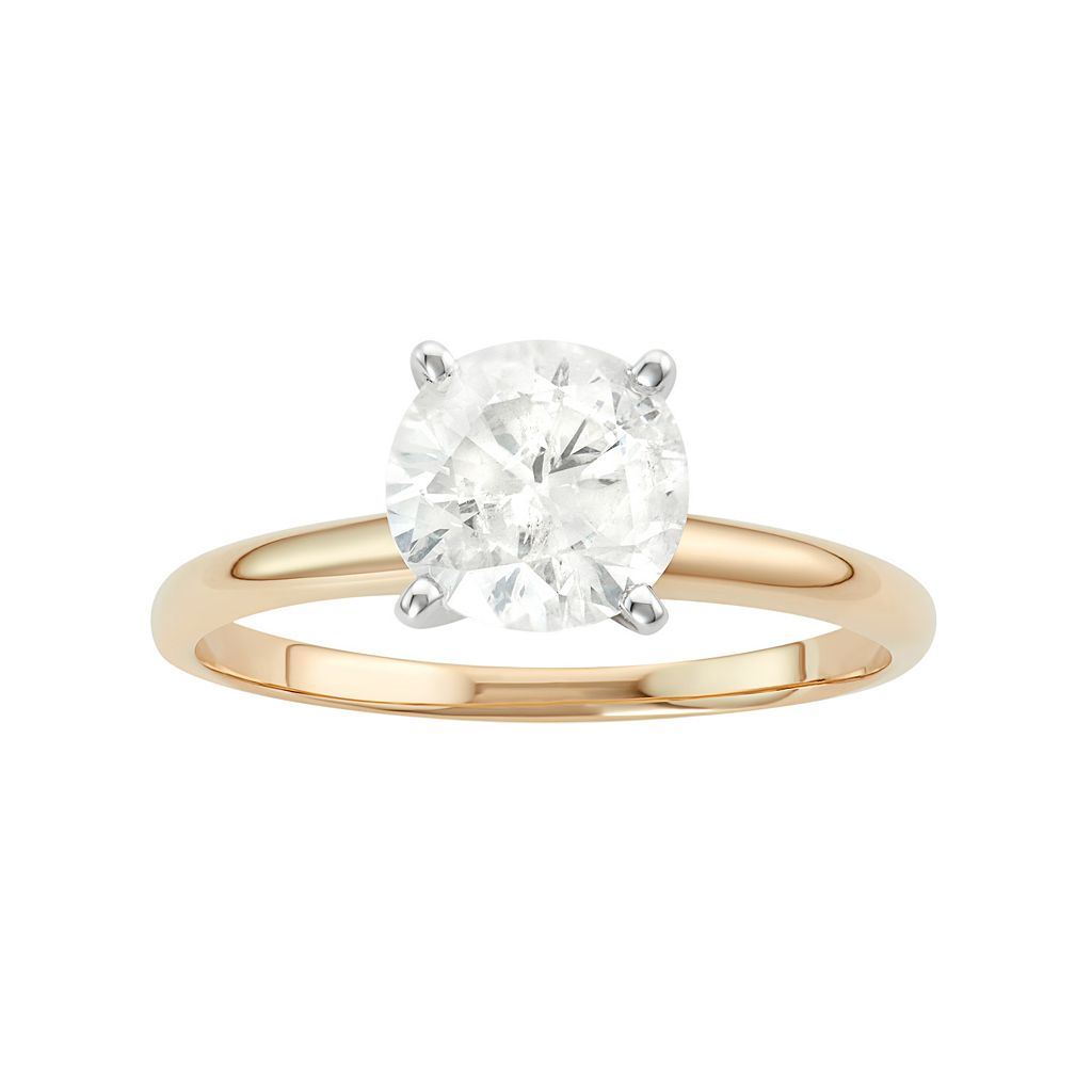 14k Gold 1 1/2 Carat T.W. IGL Certified Diamond Solitaire Engagement Ring