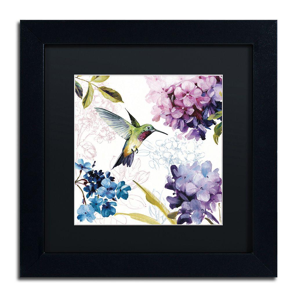 Trademark Fine Art Spring Nectar Square II Black Framed Wall Art