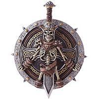 Adult Medieval Costume Skull Sword & Shield