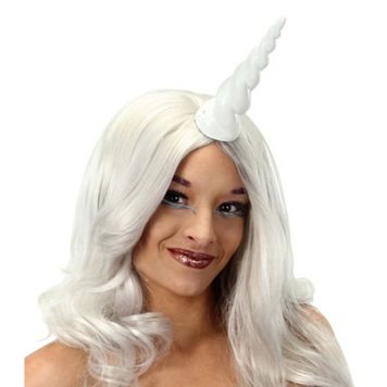 Adult White Unicorn Horn Costume Accessory