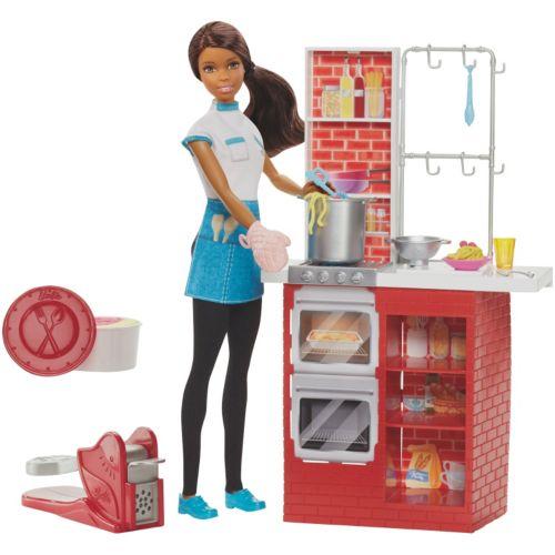 Barbie Glam Kitchen Set: Barbie Spaghetti Chef Doll & Kitchen Playset