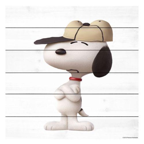 Peanuts Baseball Cap Wood Wall Art by Marmont Hill