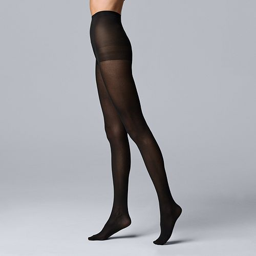 Simply Vera Vera Wang Semi-Opaque Control-Top Tights