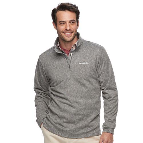 Men's Columbia Dunsire Point Classic-Fit Colorblock Fleece Quarter-Zip Pullover