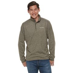 Men's Columbia Dunsire Point Classic-Fit Colorblock Fleece Quarter-Zip Pullover