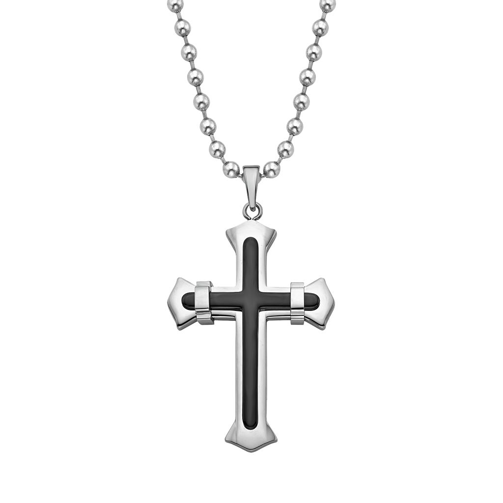 AXL by Triton Men's Stainless Steel Cross Pendant