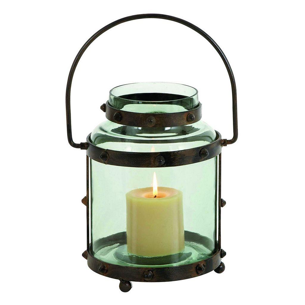 Rustic Metal & Glass Lantern