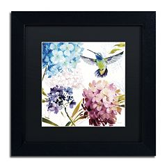 Trademark Fine Art Spring Nectar Square III Black Framed Wall Art