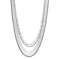 Jennifer Lopez Two Tone Multi Strand Necklace