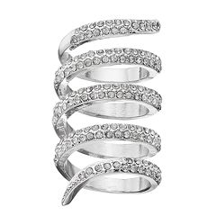 Jennifer Lopez Simulated Crystal Wrap Ring