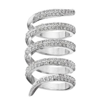 Jennifer Lopez Simulated Crystal Wrap Ring