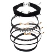 Mudd® Lace & Velvet Choker Necklace Set