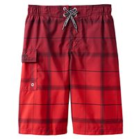 Boys 8-20 ZeroXposur Gradient Plaid Swim Trunks