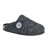 MUK LUKS Women's Cable Knit Clog Slippers