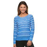 Women's Caribbean Joe Striped Tape Yarn Sweater