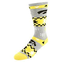 Men's Iowa Hawkeyes Holiday Crew Socks