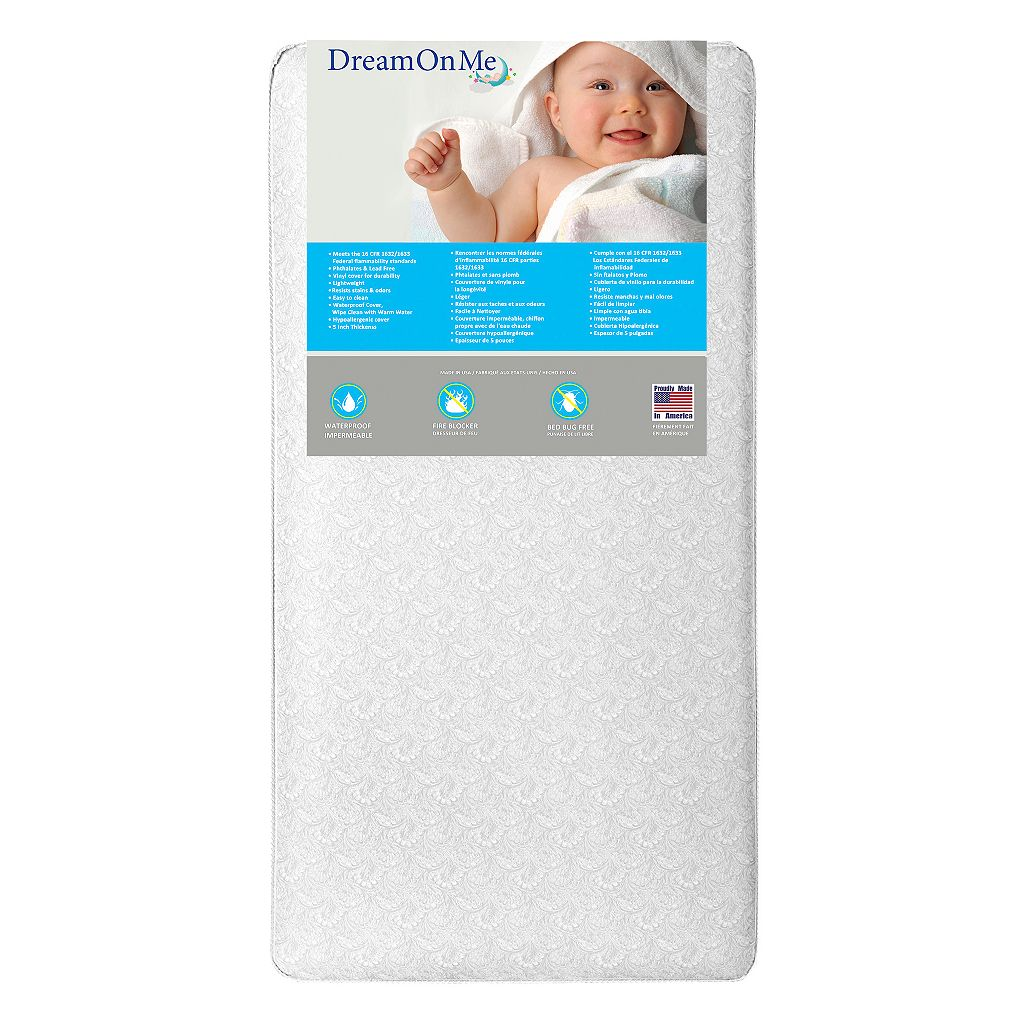 Dream On Me Bon Nuit 252 Coil Crib & Toddler Bed Mattress