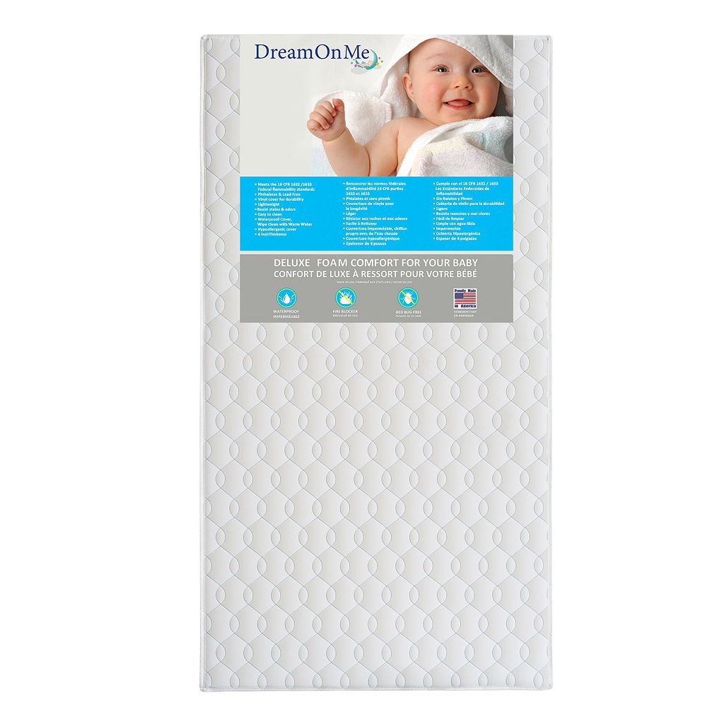 Dream On Me Carousel Full Size Foam Core Crib & Toddler Bed Mattress