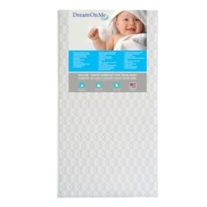 Dream On Me Carousel Full Size Foam Core Crib & Toddler Bed Mattress
