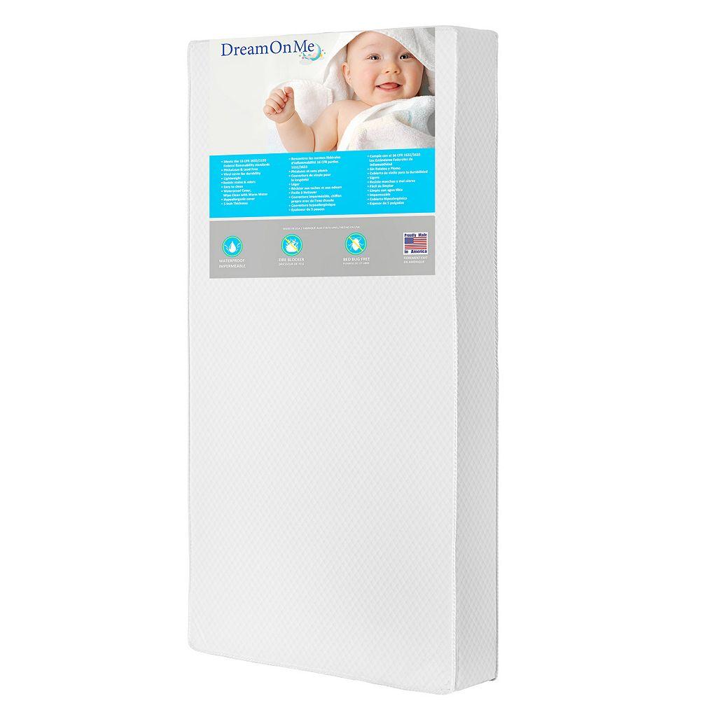 Dream On Me Lavender 2-in-1 Foam Core Crib & Toddler Bed Mattress