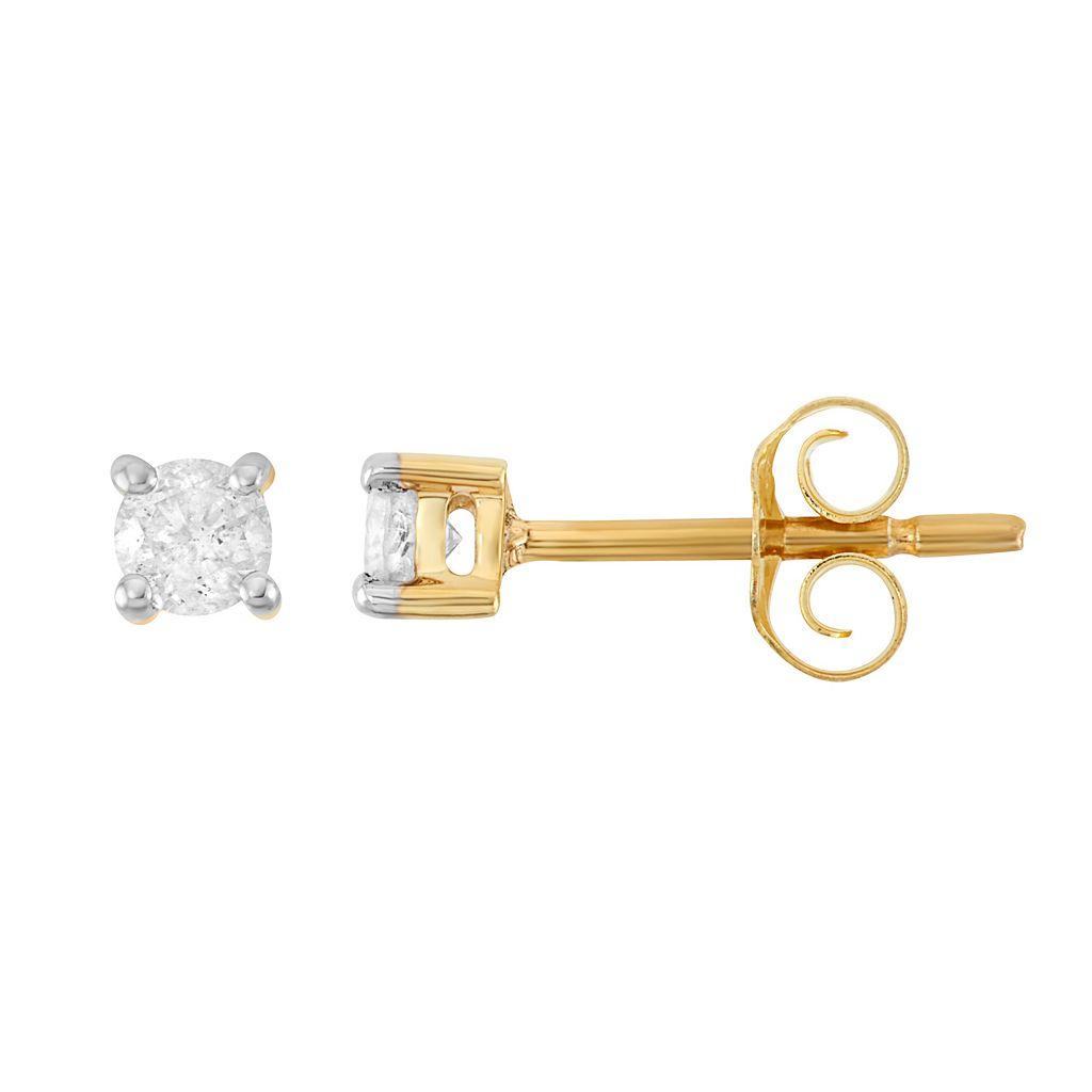 Sterling Silver 1/4 Carat T.W. Diamond Stud Earrings