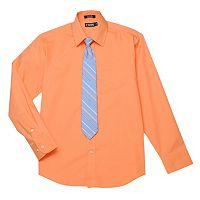 Boys 4-20 Chaps Dress Shirt & Tie Set
