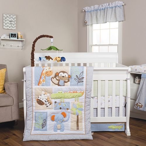 Trend Lab Jungle Fun 6 Pc Crib Bedding Set