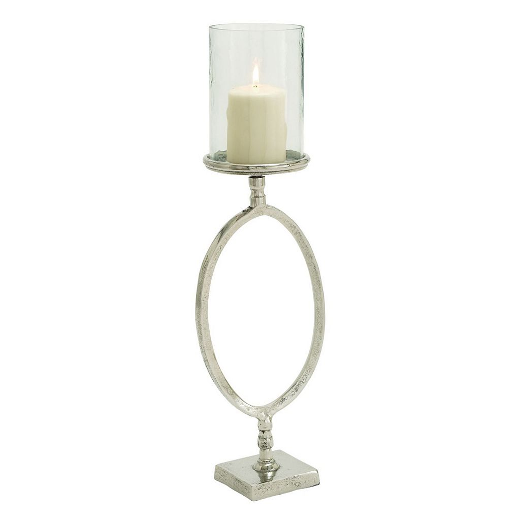 Vintage Glass Hurricane Candle Holder