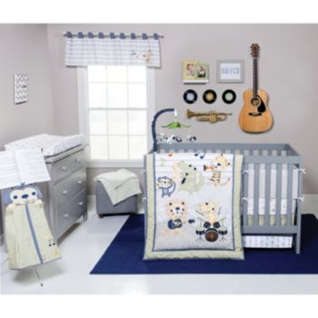 Trend Lab Safari Rock Band 6-pc. Crib Bedding Set