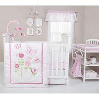 Trend Lab Floral Fun 6 pc Crib Bedding Set