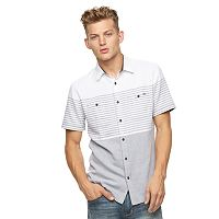 Men's Rock & Republic Striped Twill Button-Down Shirt