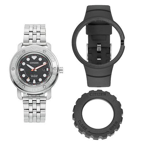 Citizen Eco-Drive Men's DIY Stainless Steel Watch & Interchangeable Band Set - AW1530-65E pantip